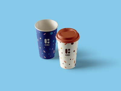 Kensu - Goodies (Coffee cup) goodie logo design branding brand system