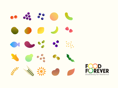 Food Forever - icons shapes & colours