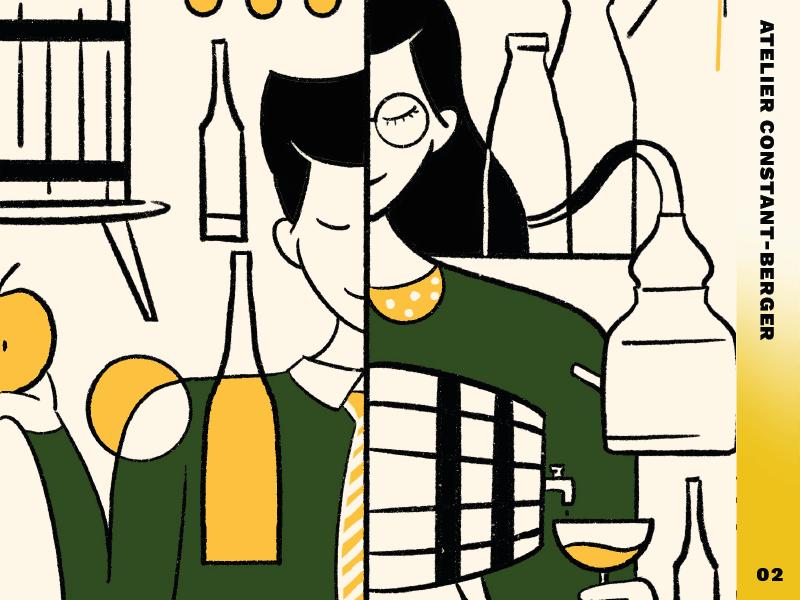 Atelier Constant Berger 02 apple pencil graphic design character design illustration
