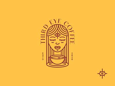 Third Eye Coffee Co. bohemian minimal icon branding logo design illustration