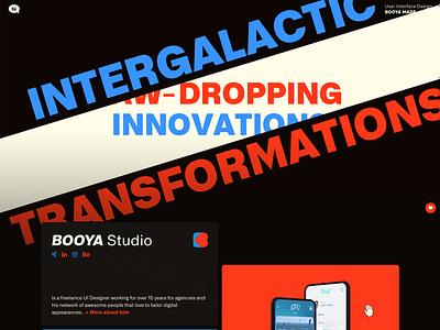 B O O Y A Website css html wordpress sketch hamburg freelance portfolio webdesign uidesign