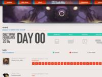 "SatelliteSoda: Daily Draw February Site - ""Tally"""
