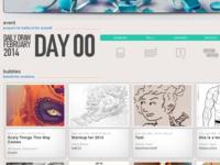 "SatelliteSoda: Daily Draw February Site - ""Bubbles"""