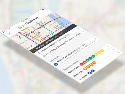 Smart Subway NYC mta subway rail transit white ios7 helvetica mobile transparent maps nyc