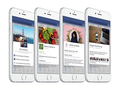 Peek and Pop on Facebook 3dtouch ios iphone peek 3d touch facebook