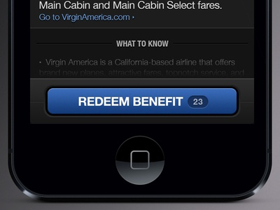 iOS Button cta button blue grey black ui interface iphone helvetica ios ipad retina 2x redeem