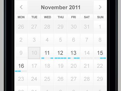 Mobile Calendar calendar mobile ios ui blue white clean retina minimal appointment scheduler acquisition order flow