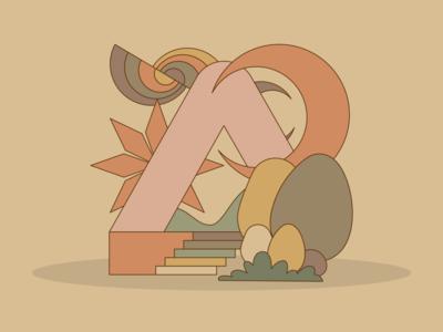 Throwback random star egg neutral tan stairs illustrator vector illustration design