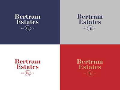 Bertram Estates seal mark realestateagent realty house estate real estate typography design branding flat logo