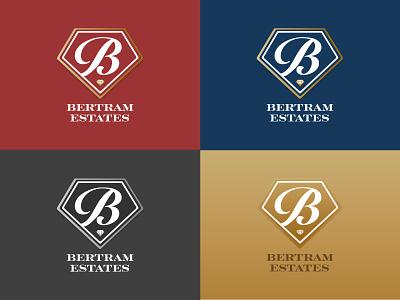 Bertram Logo v3 typography seal realestateagent realestate minimal logo icon flat design daily branding badge