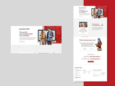 Landing Page Spec Work app website animation daily design branding web flat ux ui