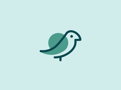 Blue Bird Logo Mark bird socialmedia social marketing logomark flat vector logo illustration daily design branding