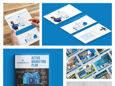 Homevalue 360 Marketing print design magazine mail marketing ui indesign photoshop website builder website web print