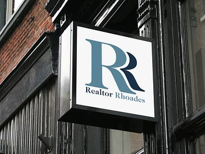 Realtor Rhoades - Real Estate Agent Logo lettering type minimal icon vector typography illustration branding flat logo real estate real estate