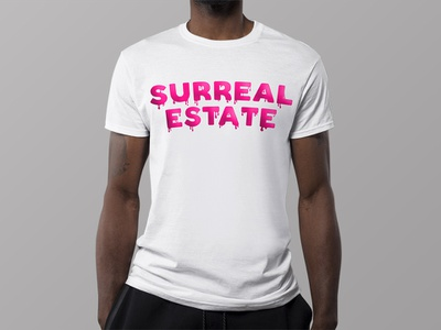 Surreal Estate continued brainstorm merchandise fashion minimal illustration typography logo daily design branding flat shirt