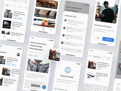 Maos - News and Reader App UI Kit reading app read news app news interfaces user experience ux ui ux design ui ux app design ux design app user interface ui design ui ios mobile minimal interface clean