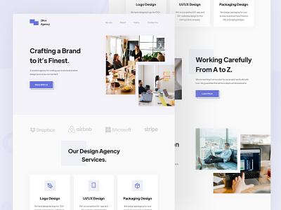 Digital Agency Landing Page simple clean web ui landing page icon ux design ui design interface minimal web design website landingpage studio office digital agency ux ui web landing
