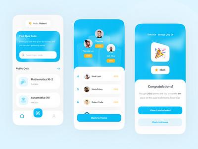 Cizo - Quiz App UI KIt modern design blue cizo quiz kit elearning quiz ui kits ui kit ui8 app design minimal mobile clean app ui ux design ui design ux interface