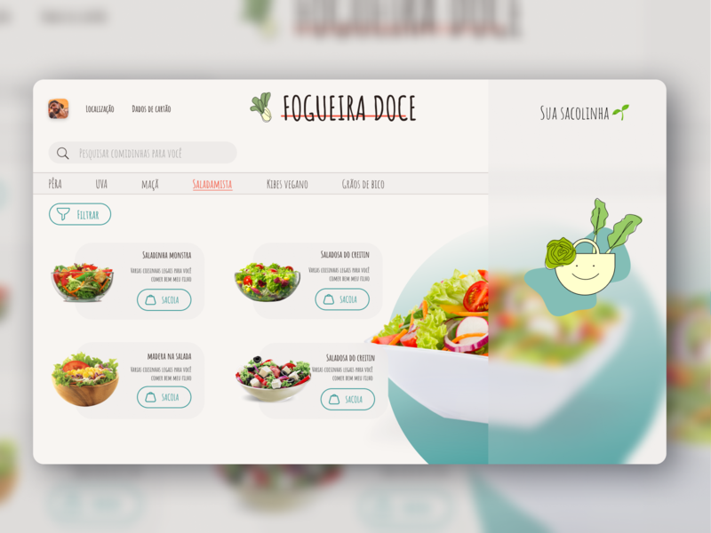 Vegan Delivery Website Desktop branding illustration website flat ux ui hello dribble design product design