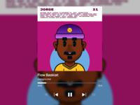 Flow Baskiat Song illustration product design spotify deezer mobile desktop trap song music
