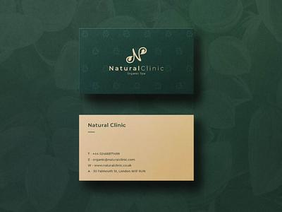 Natural Clinic logo design branding design branding logo business card design business card