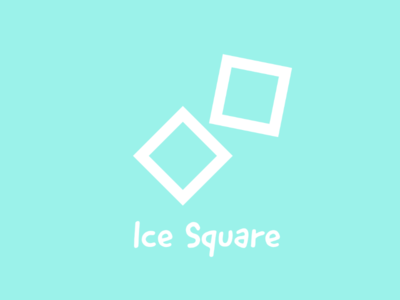 Ice Square logo building cold water technology software architecture business graphic art ice square illustration design art logo design logo