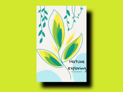 Nature exploring poster poster design poster unique creator brandidentity brand business card card nature beautiful colourful painting graphics art art illustration area design logo design concept logo design logo