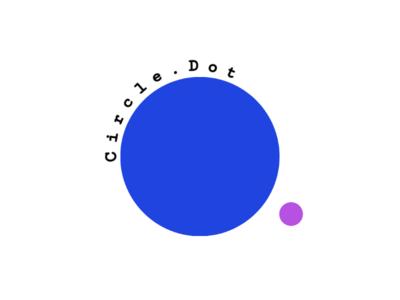Circle.Dot logo unique creator identity brandidentity brand business card card circle flat beautiful blue technology graphics art art software area design logo design concept logo design logo