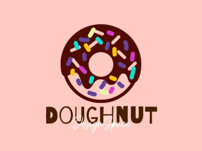 Doughnut logo unique creator label mark identity brandidentity brand platform space beautiful colourful painting graphics art food doughnut art design logo design concept logo design logo