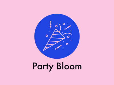 Party Bloom logo unique creator label mark identity brandidentity brand business card management event bloom beautiful graphics art art party design logo design concept logo design logo