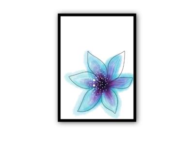 Sperituallity flower wall art mindfulness calm blue creative stock adobe illustration flower speritual designer graphic design wall art
