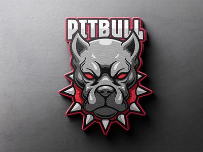 Pitbull character logo security pet branding indentity animal illustration wild animal logo gamer sticker mascot cartoon gaming logo logo game esportslogo esports