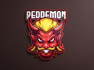 Red Demon mascot logo team logo game project face mask demon tshirt designs design character vector esports logo branding twitch illustration game mobile legends pubgmobile