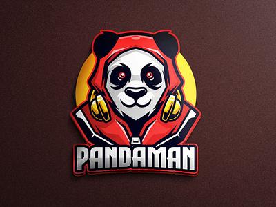Pandaman logo character sportswear game asset mobile game boxing sports illustration sports logo sports logo gaming tshirtdesign vector character esports logo branding twitch illustration game
