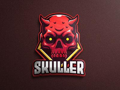 Skull mascot character game assets logo game mobile game mobile legends mascot logo satan devil evil skull mascot logo gaming tshirtdesign vector character esports logo branding twitch illustration game