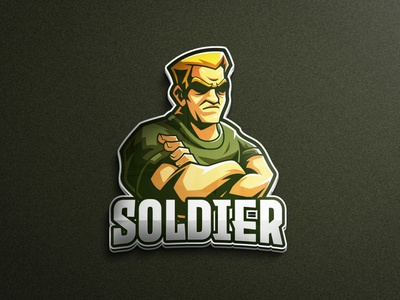 Soldier character mascot logo game assets mobile game pubg mobile pubg warrior human mascot logo gaming tshirtdesign character esports logo branding twitch illustration game vector illustration soldier vector