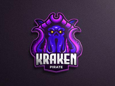 Kraken gaming logo game assets mobile game pirates mascot pirates sea animal logo animals octopus animal kraken character logo gaming esport tshirtdesign esports logo branding twitch illustration game