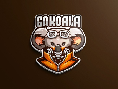Koala Mascot Logo Template game avatar plane vector cards ui illustration mask mobile gamer youtube twitch game mascot design tshirt designs card identity brand mascot character mascotlogo mascot koala