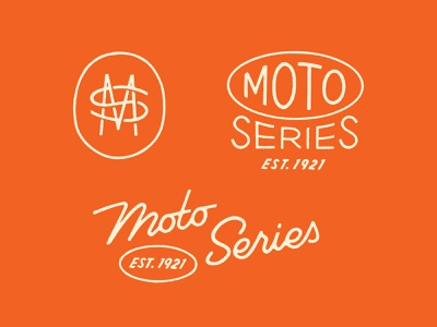 Moto Series Marks monogram logo identity logo lockup script logotype branding