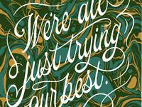 Marbled risograph riso marbled marbling art print illustration hand lettering design script lettering