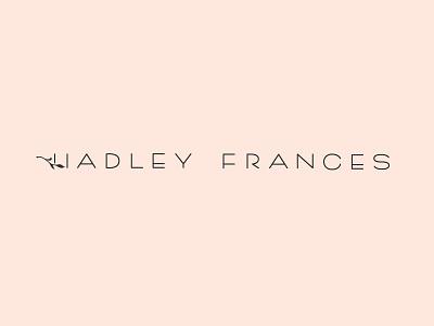 Hadley Frances Logo hand lettering lettering branding identity logo logotype