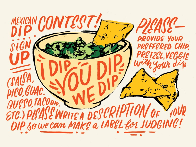 i dip  you dip  we dip  by whitney anderson on dribbble