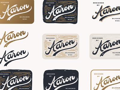 Aaron texture logo branding