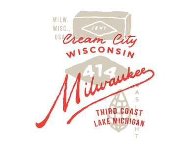 Milwaukee milwaukee badge lettering