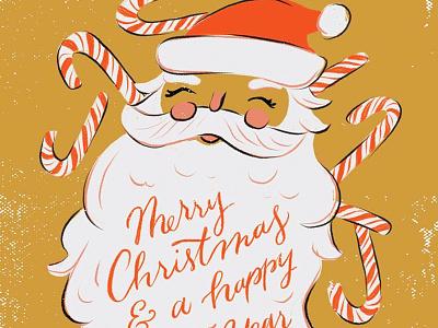 Candy Cane Santa texture candy cane illustration santa christmas