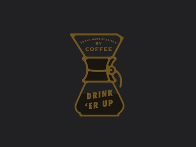 Drink 'Er Up monoline icon chemex coffee