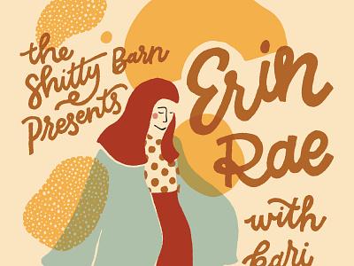 Erin Rae lettering illustration show poster