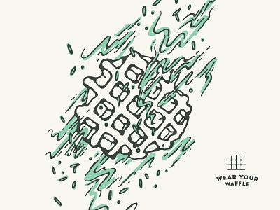 Wear Your Waffle onesie apparel waffles illustration