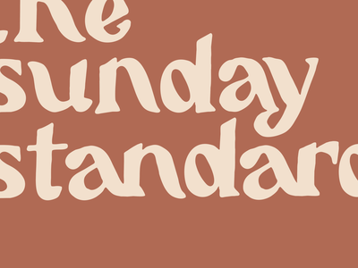 the Sunday standard typography lettering