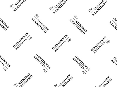 The Sunday Standard skin care logotype wordmark branding